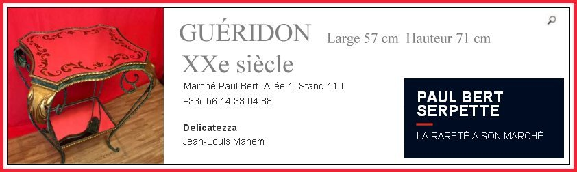 gu�ridon Jean Louis Manem, March� Paul Bert Serpette
